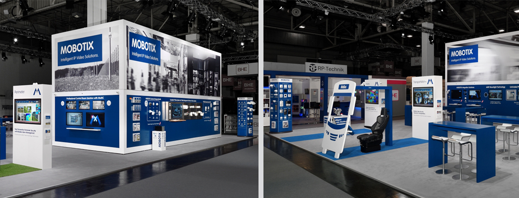 Corner Exhibition Stands Care : Exhibition stands individual illuminated unlit directly from