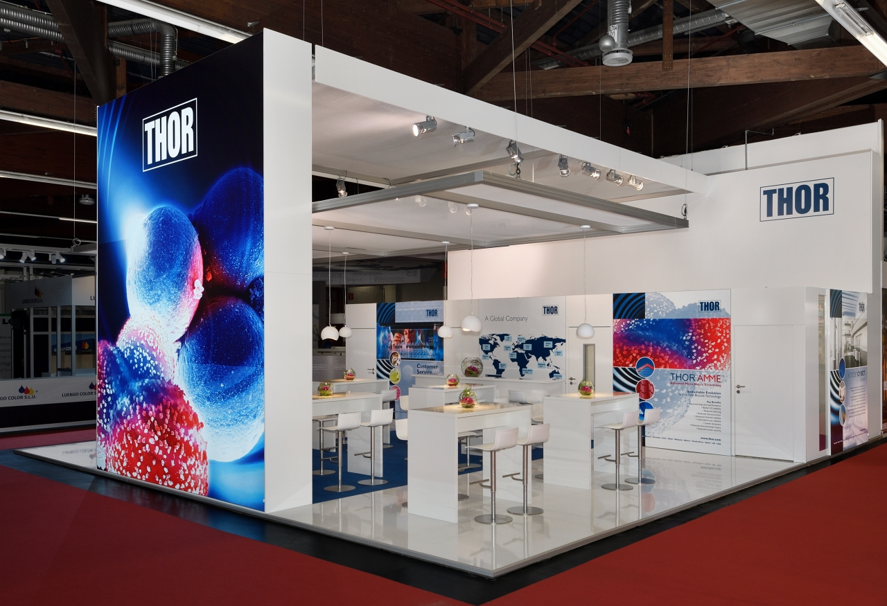 Modern Exhibition Stand Lighting : Exhibition stands individual illuminated unlit directly from